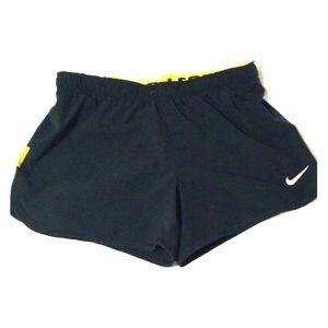 NIKE Livestrong Black YELLOW  Spandex Shorts Small